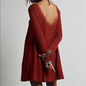 Free People Long Sleeve Swing Dress